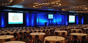 Audio, Video, Lighting, Draping at a Pasadena Conference