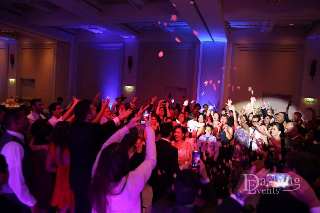 DJ Diary: DJ, Decor Lighting and Violinist for Pasadena Wedding