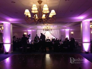 dashing events purple uplighting