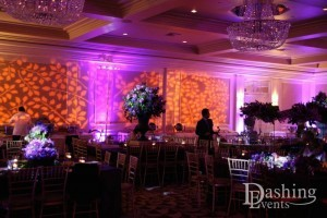 bat mitzvah fairmont miramar hotel santa monica amber and lavender uplighting gobo lighting
