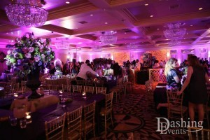 bat mitzvah fairmont miramar hotel santa monica lavender uplighting gobo lighting