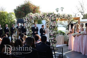 sls hotel beverly hills wedding ceremony bridal party