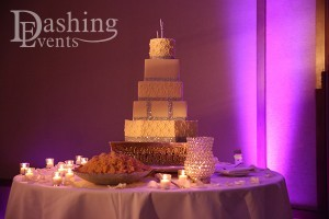 westin san diego wedding crystal ballroom cake pinspot lighting by dashing events