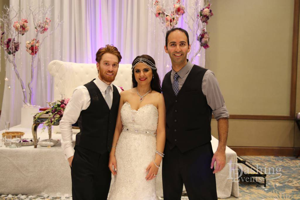 DJ Diary: Afghan DJ & Cake Lighting for Modern San Diego Wedding