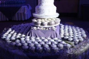 Wedding Cake and cupcake spot lighting