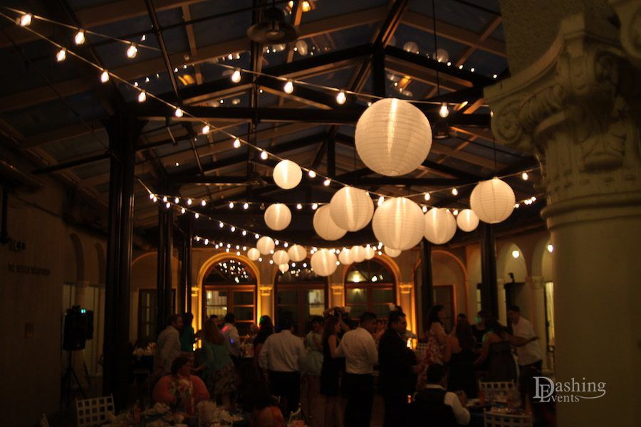 Branca Patio Lanterns and String Lights