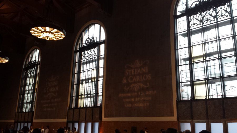 Event Diary: Los Angeles Union Station Wedding Lighting