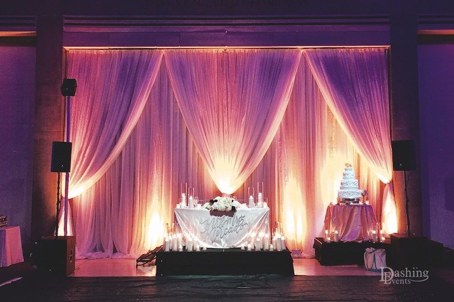 Skirball center backdrop draping and lighting