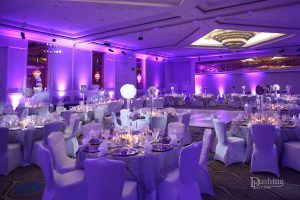 Sheraton Universal Uplighting and Pinspot Lighting